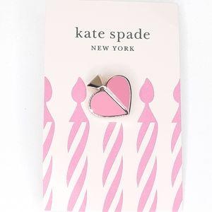 Kate Spade Enamel & Gold Spade Pin